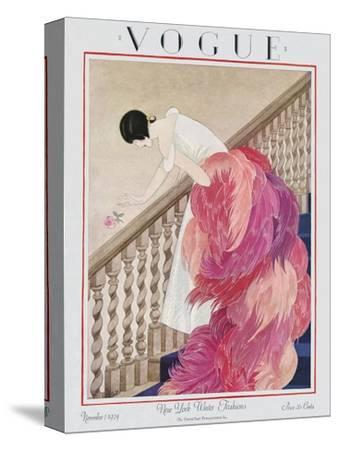 Vogue Cover - November 1924-George Wolfe Plank-Stretched Canvas Print