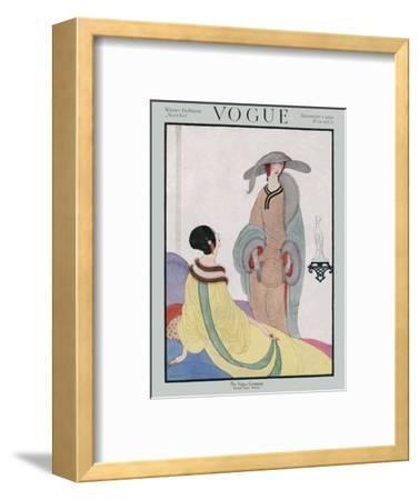 Vogue Cover - November 1919-Helen Dryden-Framed Premium Giclee Print