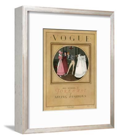 Vogue Cover - February 1923-Pierre Brissaud-Framed Premium Giclee Print