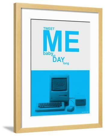 Tweet Me Baby All Day Long-NaxArt-Framed Art Print