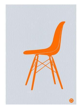 Orange Eames Chair-NaxArt-Art Print