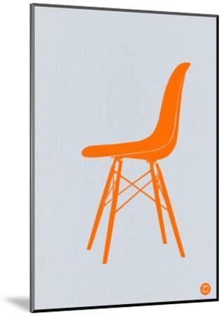 Orange Eames Chair-NaxArt-Mounted Art Print
