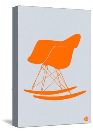 Orange Eames Rocking Chair-NaxArt-Stretched Canvas Print