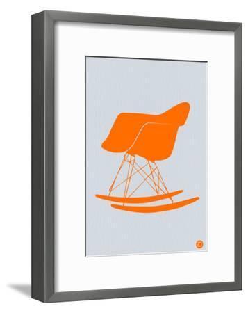Orange Eames Rocking Chair-NaxArt-Framed Art Print