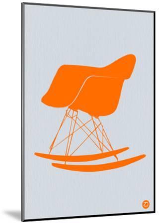 Orange Eames Rocking Chair-NaxArt-Mounted Art Print