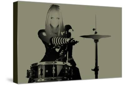 Drummer-NaxArt-Stretched Canvas Print