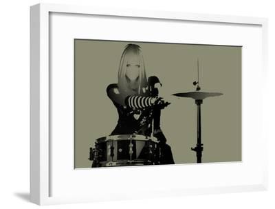 Drummer-NaxArt-Framed Art Print