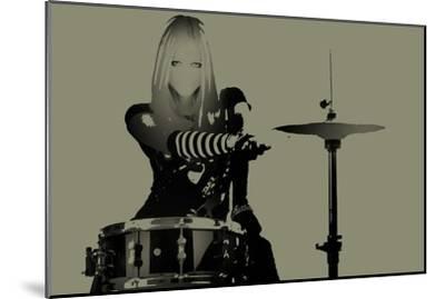 Drummer-NaxArt-Mounted Art Print