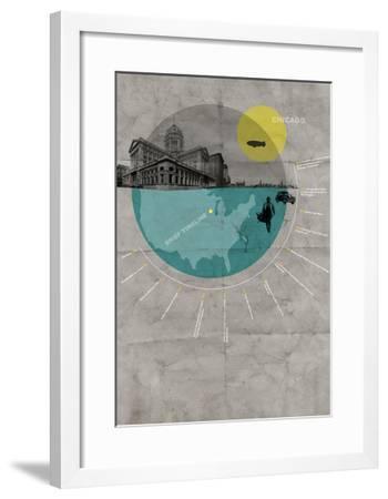 Chicago Poster-NaxArt-Framed Art Print