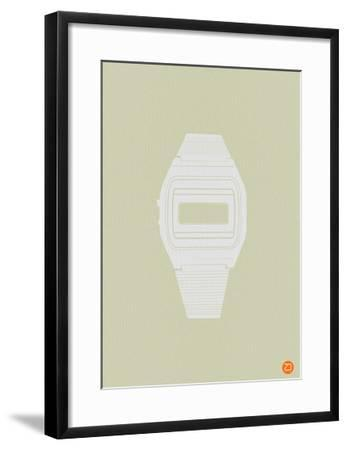 White Electronic Watch-NaxArt-Framed Art Print