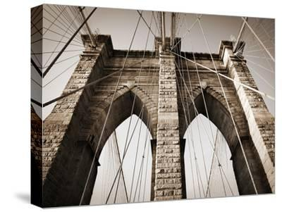 The Brooklyn Bridge, a National Landmark-Keith Barraclough-Stretched Canvas Print