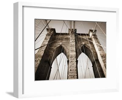 The Brooklyn Bridge, a National Landmark-Keith Barraclough-Framed Photographic Print