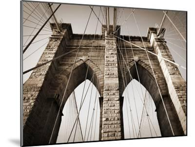 The Brooklyn Bridge, a National Landmark-Keith Barraclough-Mounted Photographic Print
