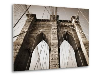 The Brooklyn Bridge, a National Landmark-Keith Barraclough-Metal Print