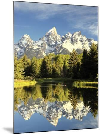 Reflections of Grand Teton Mountain in the Snake River-Robbie George-Mounted Photographic Print