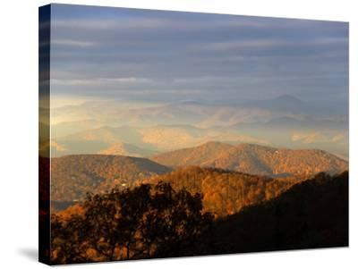 Early Morning Sunlight on the Mountain Tops-Amy & Al White & Petteway-Stretched Canvas Print