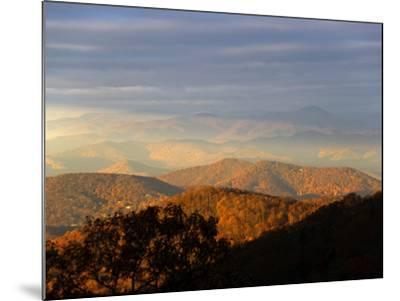Early Morning Sunlight on the Mountain Tops-Amy & Al White & Petteway-Mounted Photographic Print