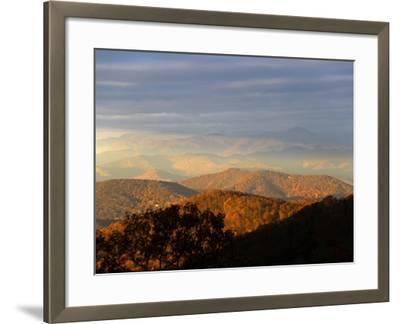 Early Morning Sunlight on the Mountain Tops-Amy & Al White & Petteway-Framed Photographic Print