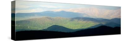 Early Morning Light on the Blue Ridge Mountains-Amy & Al White & Petteway-Stretched Canvas Print