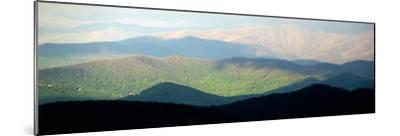 Early Morning Light on the Blue Ridge Mountains-Amy & Al White & Petteway-Mounted Photographic Print