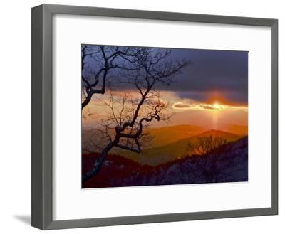 Sunset over the Blue Ridge Mountains-Amy & Al White & Petteway-Framed Photographic Print