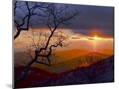 Sunset over the Blue Ridge Mountains-Amy & Al White & Petteway-Mounted Photographic Print
