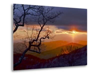 Sunset over the Blue Ridge Mountains-Amy & Al White & Petteway-Metal Print