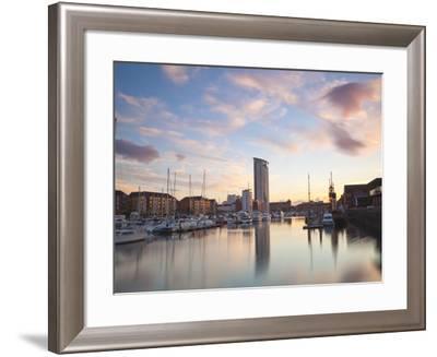 Swansea Marina, West Glamorgan, South Wales, Wales, United Kingdom, Europe-Billy Stock-Framed Photographic Print