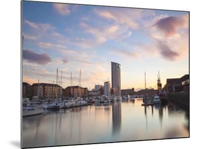 Swansea Marina, West Glamorgan, South Wales, Wales, United Kingdom, Europe-Billy Stock-Mounted Photographic Print