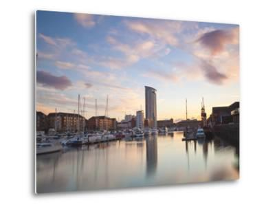 Swansea Marina, West Glamorgan, South Wales, Wales, United Kingdom, Europe-Billy Stock-Metal Print