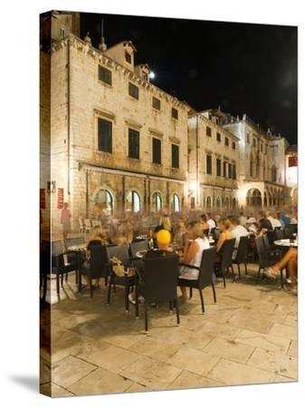 Nightlife, Dubrovnik, Dubrovnik-Neretva County, Croatia, Europe-Emanuele Ciccomartino-Stretched Canvas Print