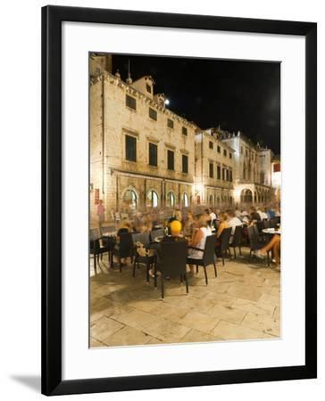 Nightlife, Dubrovnik, Dubrovnik-Neretva County, Croatia, Europe-Emanuele Ciccomartino-Framed Photographic Print