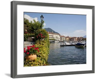 Town and Lakeside, Menaggio, Lake Como, Lombardy, Italian Lakes, Italy, Europe-Frank Fell-Framed Photographic Print