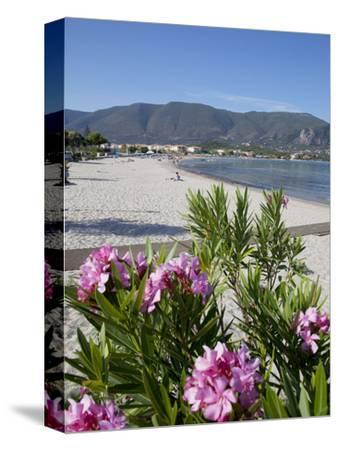 Beach Scene, Alykanas, Zakynthos, Ionian Islands, Greek Islands, Greece, Europe-Frank Fell-Stretched Canvas Print