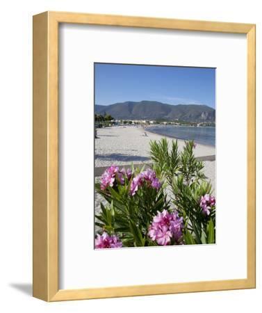Beach Scene, Alykanas, Zakynthos, Ionian Islands, Greek Islands, Greece, Europe-Frank Fell-Framed Photographic Print