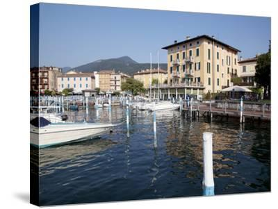 Harbour and Boats, Iseo, Lake Iseo, Lombardy, Italian Lakes, Italy, Europe-Frank Fell-Stretched Canvas Print