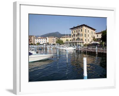 Harbour and Boats, Iseo, Lake Iseo, Lombardy, Italian Lakes, Italy, Europe-Frank Fell-Framed Photographic Print