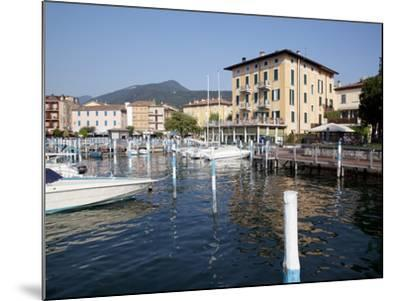Harbour and Boats, Iseo, Lake Iseo, Lombardy, Italian Lakes, Italy, Europe-Frank Fell-Mounted Photographic Print