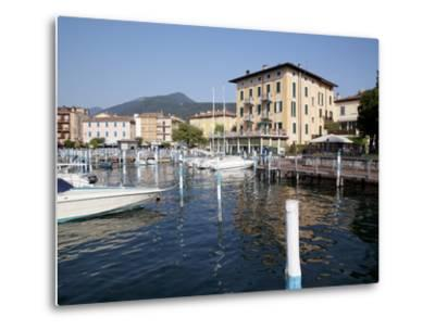 Harbour and Boats, Iseo, Lake Iseo, Lombardy, Italian Lakes, Italy, Europe-Frank Fell-Metal Print