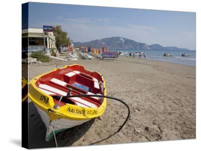 Beach, Laganas, Zakynthos, Ionian Islands, Greek Islands, Greece, Europe-Frank Fell-Stretched Canvas Print