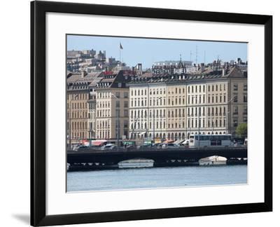 Mont Blanc Bridge, Geneva, Switzerland, Europe-Godong-Framed Photographic Print