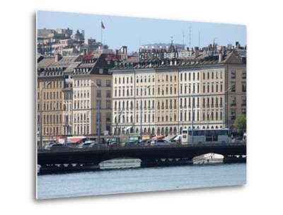 Mont Blanc Bridge, Geneva, Switzerland, Europe-Godong-Metal Print