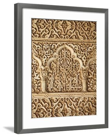 Palacio De Los Leones Sculpture, Nasrid Palaces, Alhambra, UNESCO World Heritage Site, Granada, And-Godong-Framed Photographic Print
