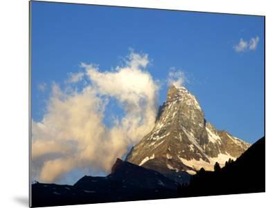 White Clouds and the Matterhorn, Zermatt,Valais, Swiss Alps, Switzerland, Europe-Hans Peter Merten-Mounted Photographic Print