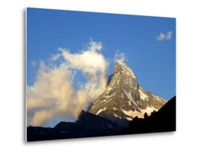White Clouds and the Matterhorn, Zermatt,Valais, Swiss Alps, Switzerland, Europe-Hans Peter Merten-Metal Print