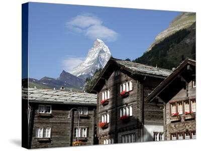 Zermatt and the Matterhorn Behind, Valais, Swiss Alps, Switzerland, Europe-Hans Peter Merten-Stretched Canvas Print