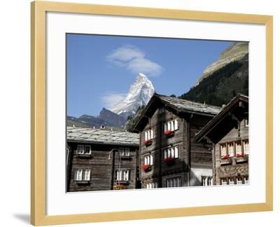 Zermatt and the Matterhorn Behind, Valais, Swiss Alps, Switzerland, Europe-Hans Peter Merten-Framed Photographic Print