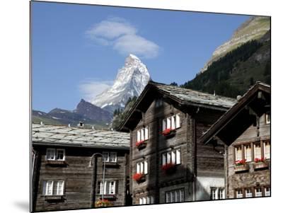 Zermatt and the Matterhorn Behind, Valais, Swiss Alps, Switzerland, Europe-Hans Peter Merten-Mounted Photographic Print
