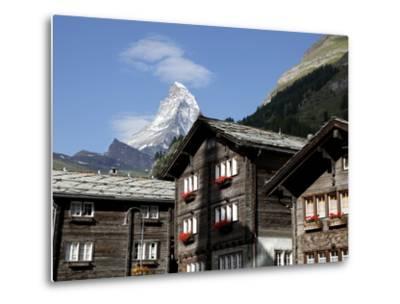 Zermatt and the Matterhorn Behind, Valais, Swiss Alps, Switzerland, Europe-Hans Peter Merten-Metal Print