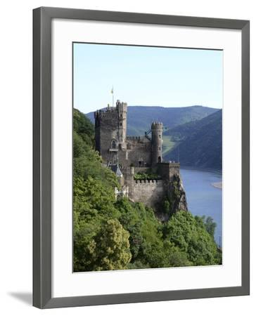 Rheinstein Castle Near Trechtingshausen, Rhine Valley, Rhineland-Palatinate, Germany, Europe-Hans Peter Merten-Framed Photographic Print